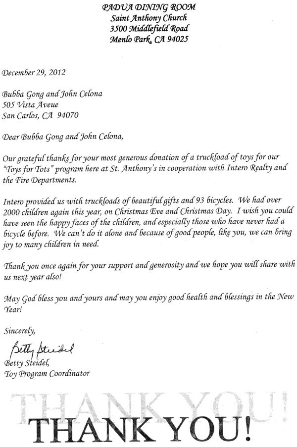 Announcement Email Sample Toys For Tots : Toys for tots sample donation letter wow